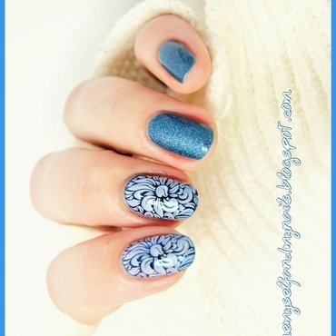 Blue Ornaments nail art by ELIZA OK-W
