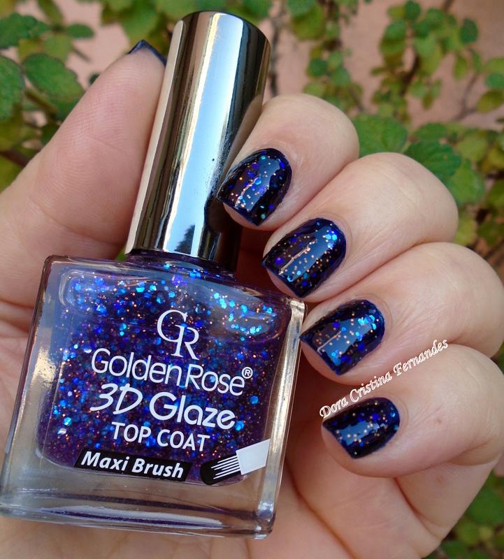 Bleu Cobalt 3D Glaze nail art by Dora Cristina Fernandes