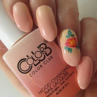 Simple Rose (Mood) nail art by NinaB