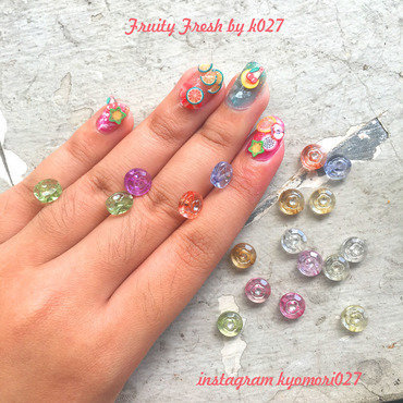 Fruity Fresh Nailart nail art by K027 (Nabila)