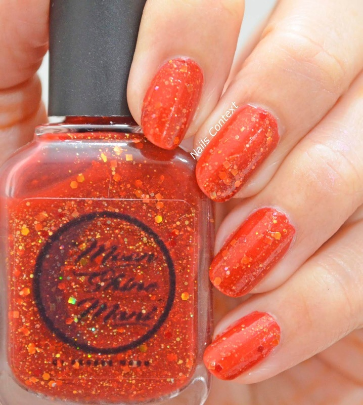 Moonshine Mani Gryffindor Nerve and Chivalry Swatch by NailsContext