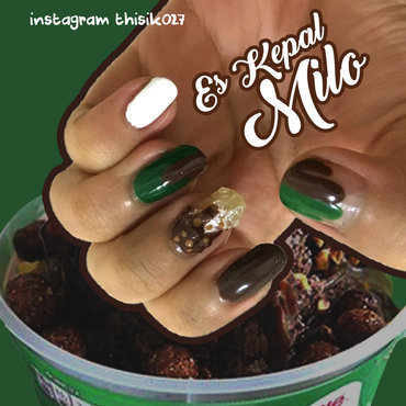 Milo Shaved Iced Nailart nail art by K027 (Nabila)