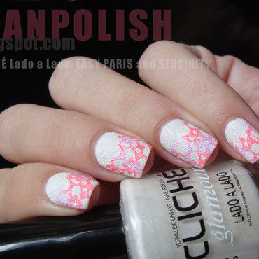 Flowers nail art by Lian