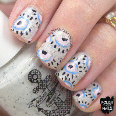 White flakie eye ball pattern nail art 4 thumb370f