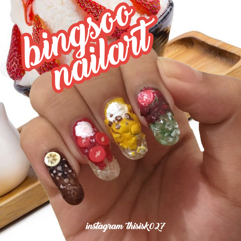 Bingsoo Nailart nail art by K027 (Nabila)