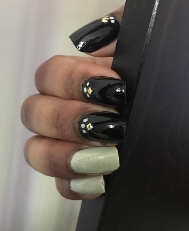 Mint Green Fanciness nail art by Chloe Jay