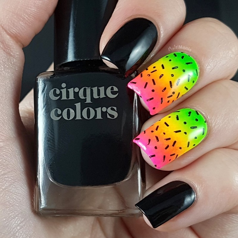 Neons nail art by Emmelie Slotboom