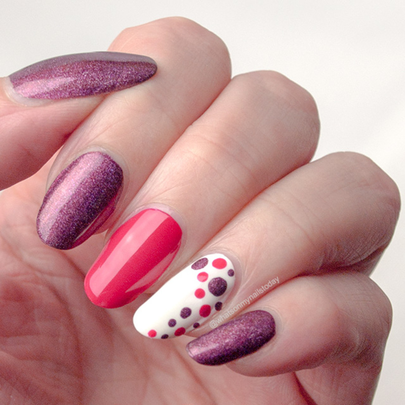 Summer dots! nail art by What's on my nails today?