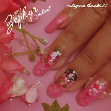 Zephyr (NIKI) Inspired Nailart nail art by K027 (Nabila)