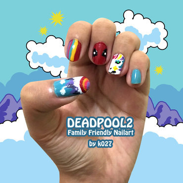 Deadpool Family Friendly Nailart nail art by K027 (Nabila)