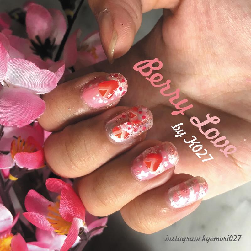Berry Love Nailart nail art by K027 (Nabila)