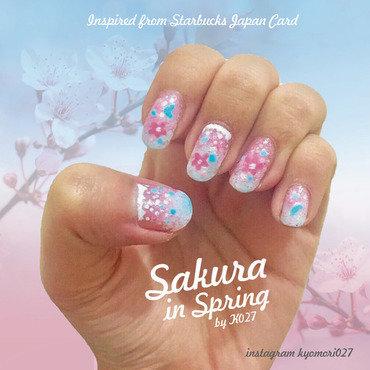 Sakura In Spring Nailart nail art by K027 (Nabila)