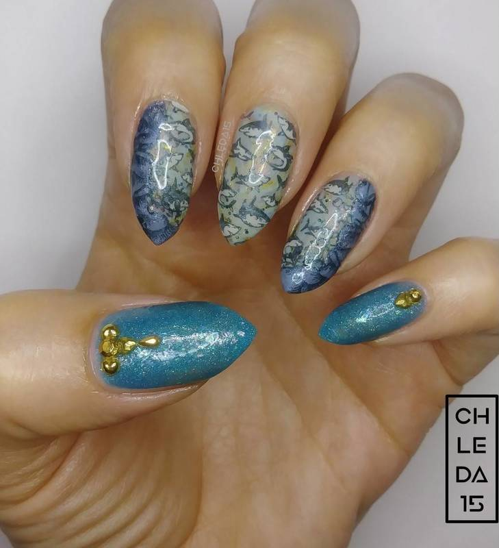 2018 #30 nail art by chleda15