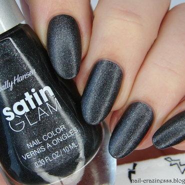 Sally Hansen Satin Glam Silk Onyx Swatch by Nail Crazinesss