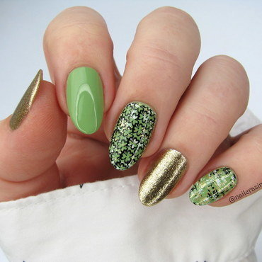 St. Patrick Day nail art by Nail Crazinesss