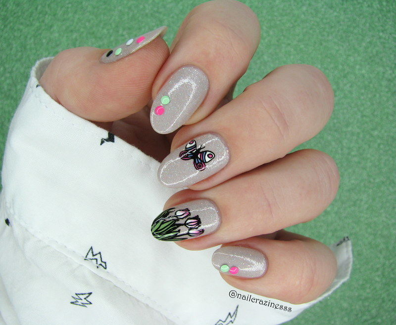 Welcome spring nail art by Nail Crazinesss