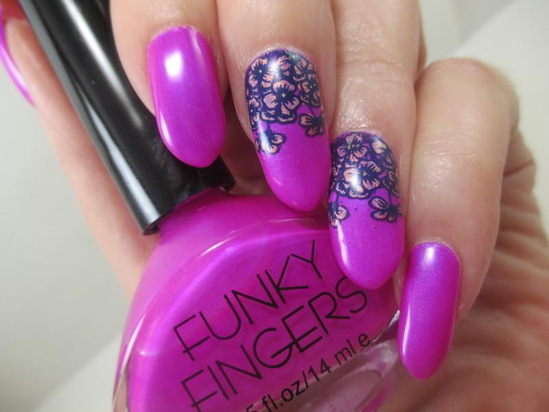Cascade nail art by NinaB