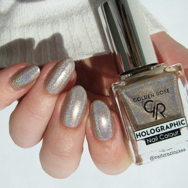 Golden Rose Holographic 02 Swatch by Nail Crazinesss