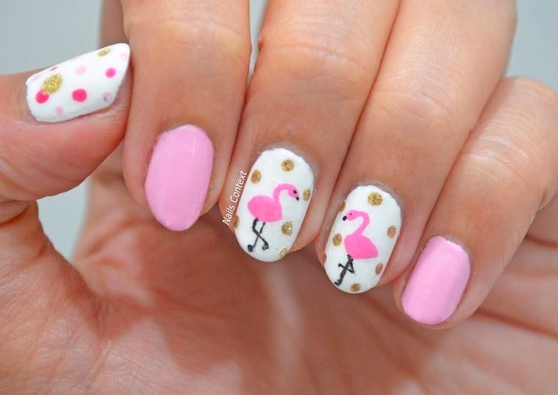 Flamingo Nails  nail art by NailsContext