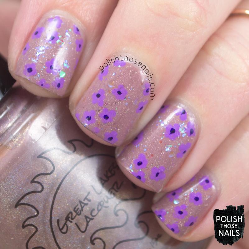 Make The Verbena Our Canvas nail art by Marisa  Cavanaugh