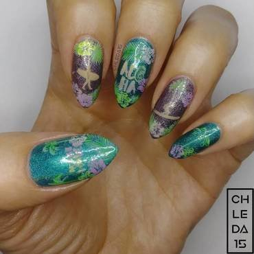 208 #32 nail art by chleda15