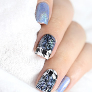 Summer Plaid nail art by Marine Loves Polish