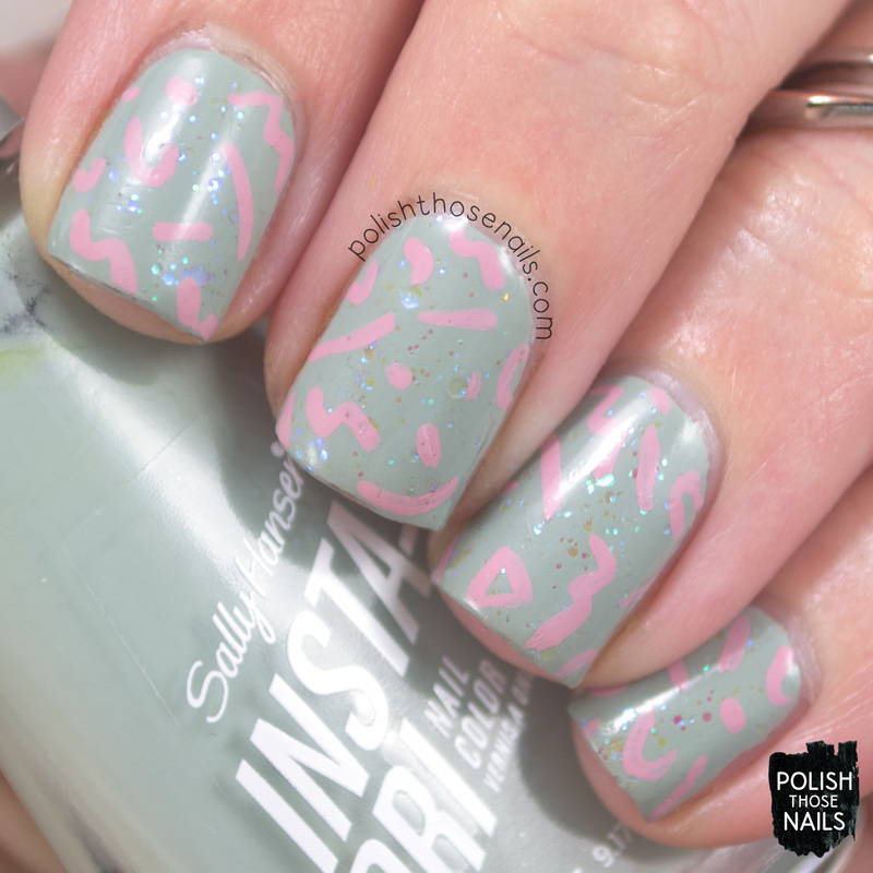 Thyme Is Money, Money Is Power, Power Is Pizza nail art by Marisa  Cavanaugh