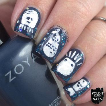 I See All The Natty Blue, Sea Creatures nail art by Marisa  Cavanaugh