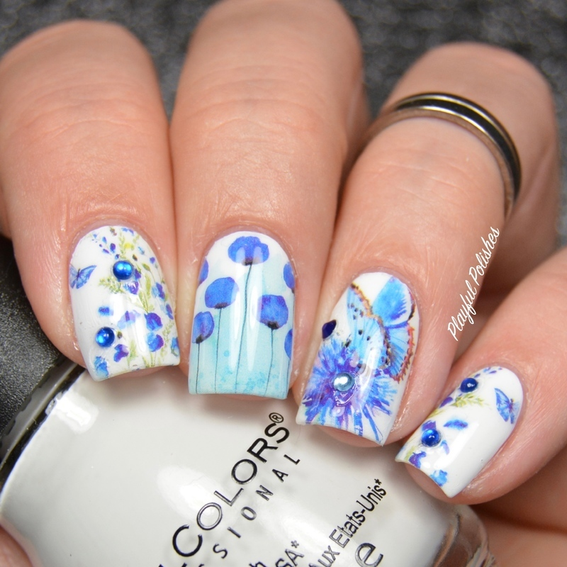 Butterfly Floral Nails nail art by Playful Polishes