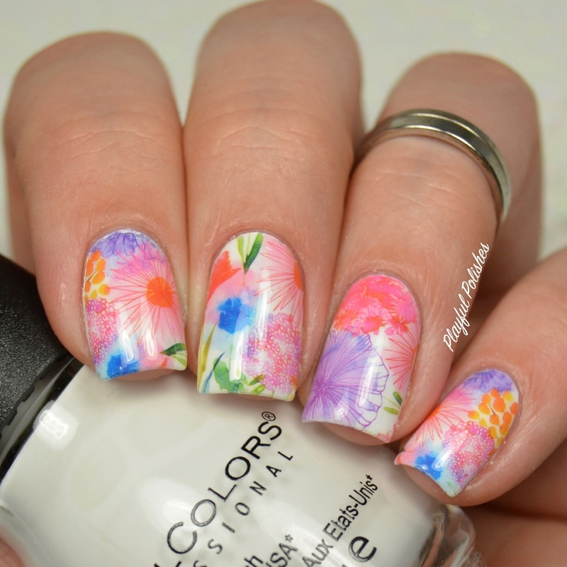 Floral Nails nail art by Playful Polishes