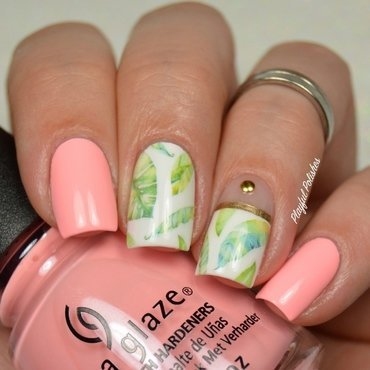Palm Leaf Nails nail art by Playful Polishes
