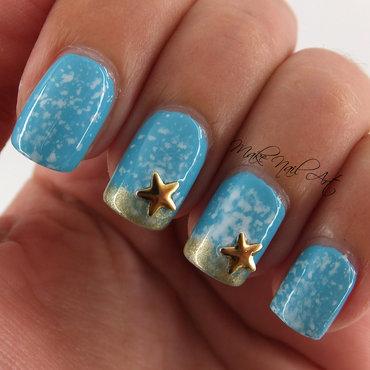 Ocean Starfish  nail art by Make Nail Art