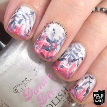 I Like Endless Leaves nail art by Marisa  Cavanaugh