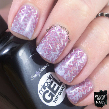 Sally hansen sunset splash purple holo zig zag distressed french tip nail art 3 thumb370f