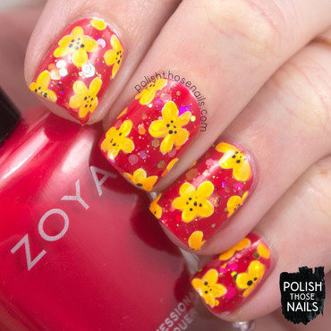 The Summer's Last Neon Florals nail art by Marisa  Cavanaugh