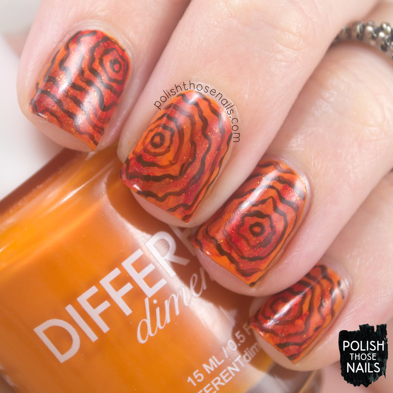 Orange You Glad nail art by Marisa  Cavanaugh