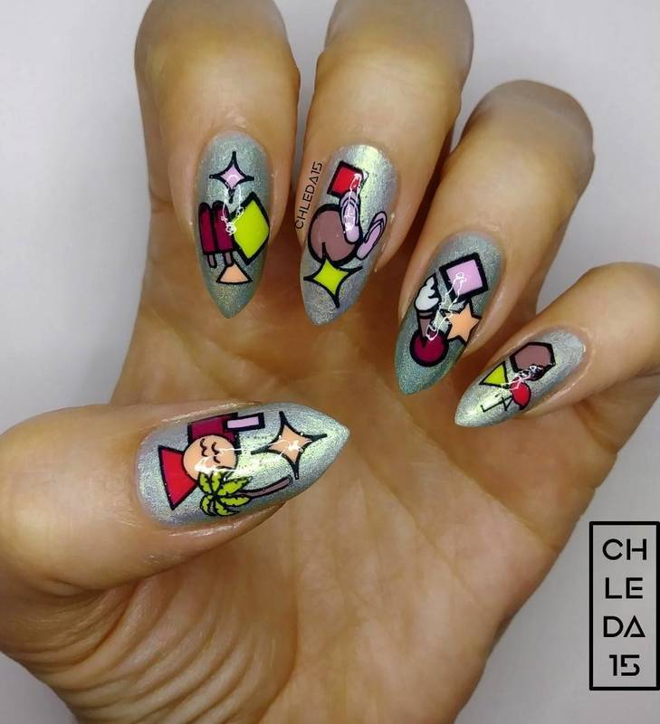 2018 #36 nail art by chleda15