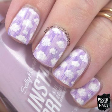 Sally hansen heather hustle light purple distressed cloud pattern nail art 4 thumb370f