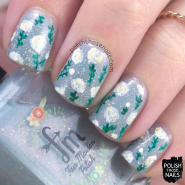 Blue Baby Florals nail art by Marisa  Cavanaugh