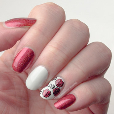 Lucky Roses nail art by What's on my nails today?