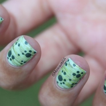 New Life Green Dotticure nail art by Monica
