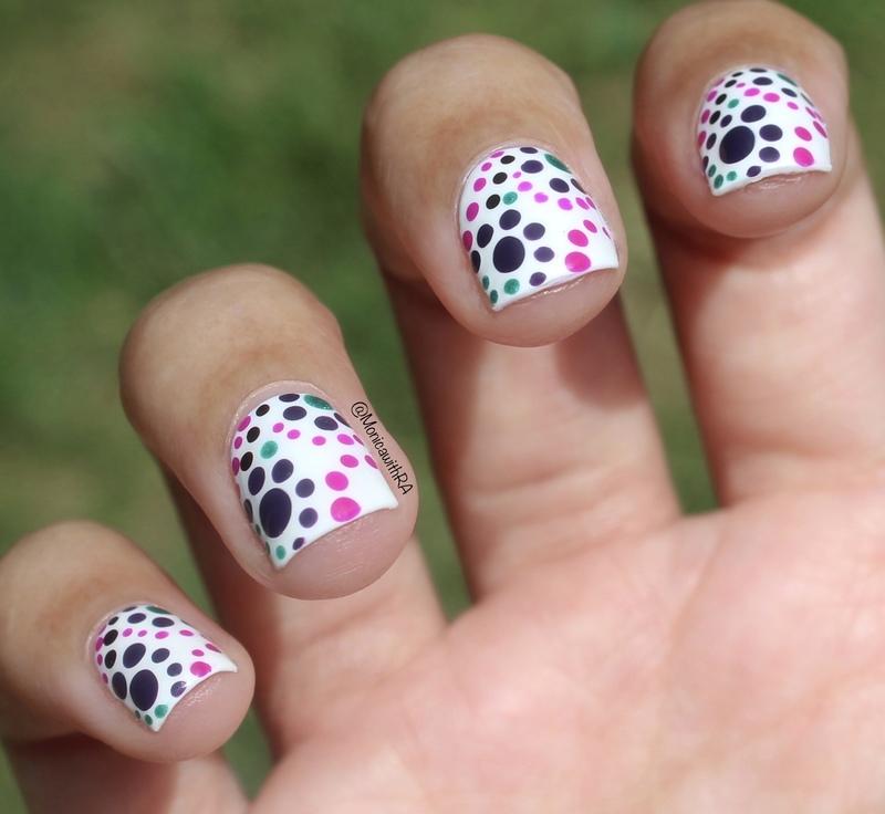 Purple Dotticure nail art by Monica