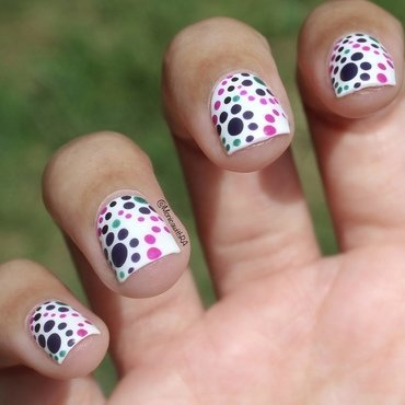 Purple Dotticure nail art by Monica