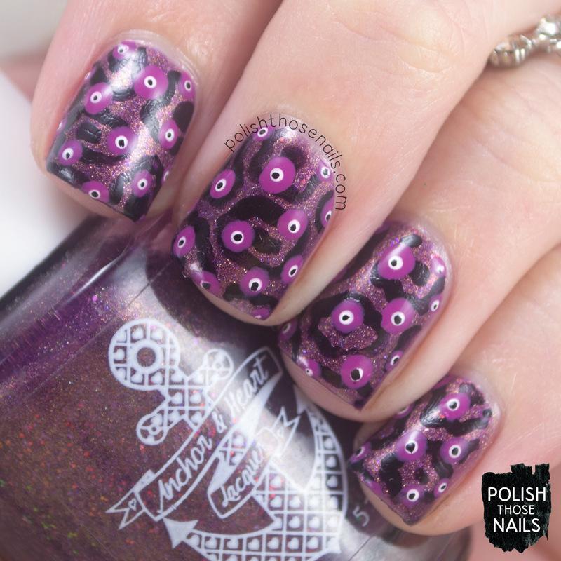 Violet Delights nail art by Marisa  Cavanaugh
