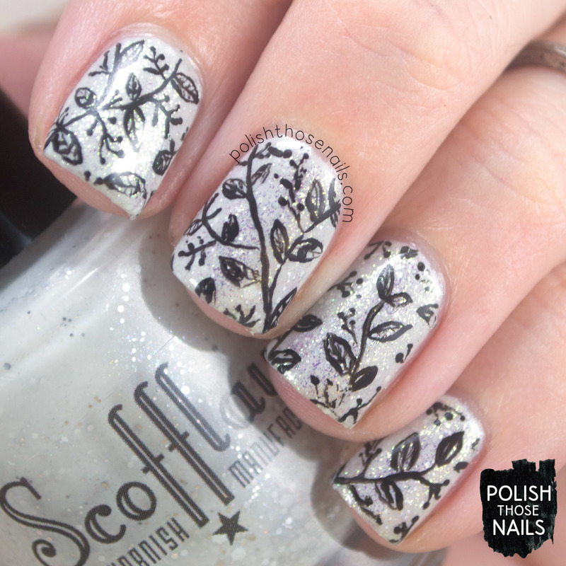 Black & White Classics nail art by Marisa  Cavanaugh