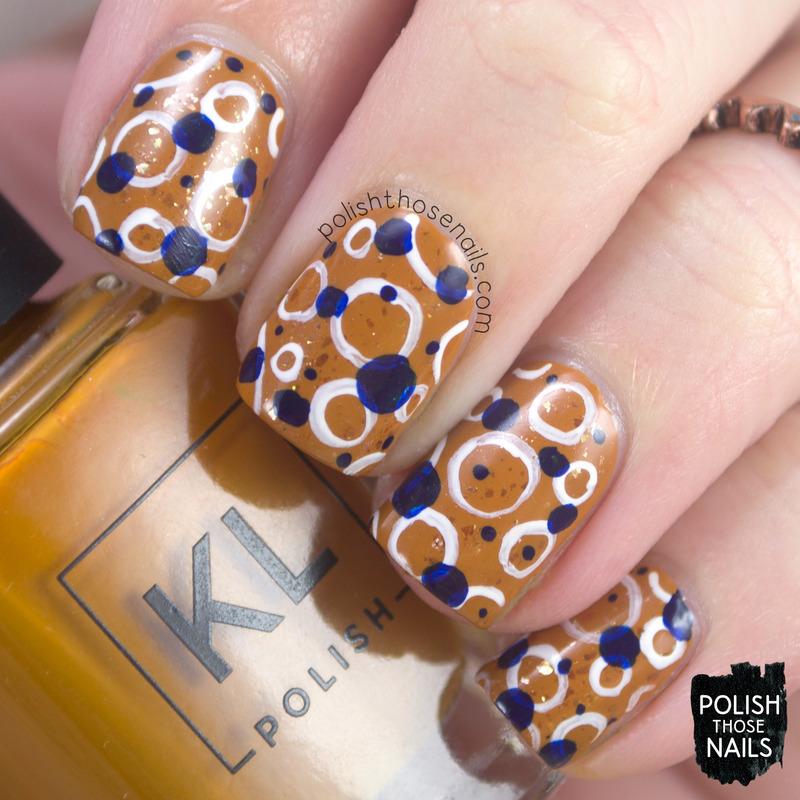 Polk-y Dots nail art by Marisa  Cavanaugh