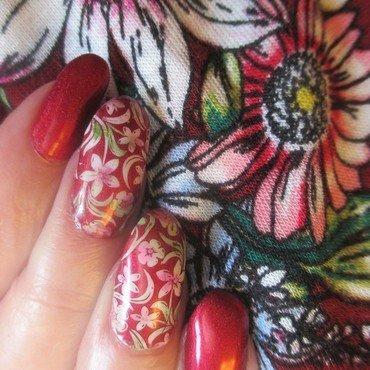 Matched nail art by NinaB
