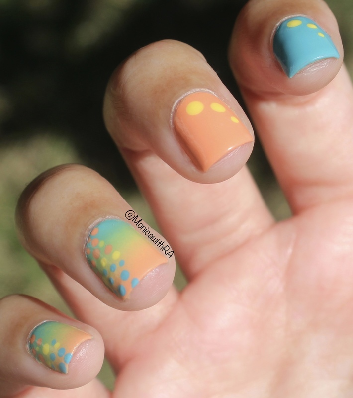 Pastel Gradient nail art by Monica
