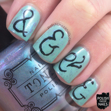Ampersand Appreciation nail art by Marisa  Cavanaugh