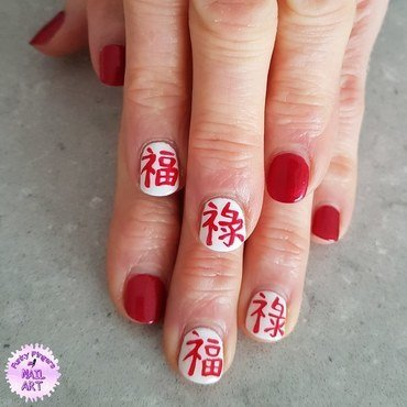 Good luck nails nail art by Funky fingers nail art